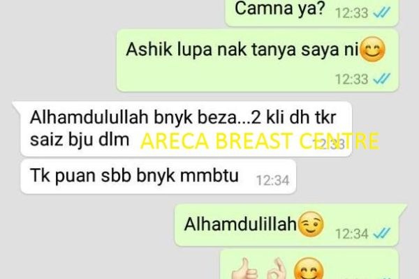 testimoni breast areca